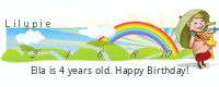 Lilypie Fourth Birthday (piHb)